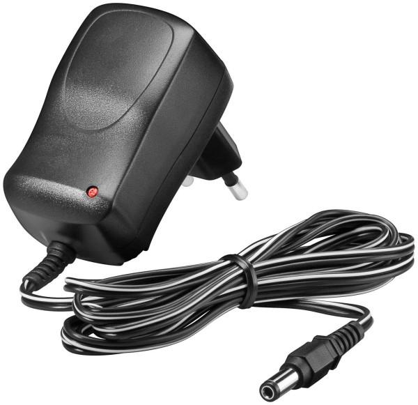 Eco-Friendly12 Volt Netzteil 7,2W 0,6 Ampere inkl. Adapter Stecker 5,5mm 2,5mm