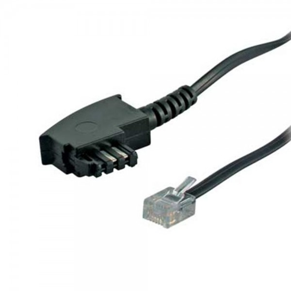 6m Telefon Anschluß Kabel TAE F-Stecker> RJ11 St. Rasternase LINKS 6/2 DEC NTBA