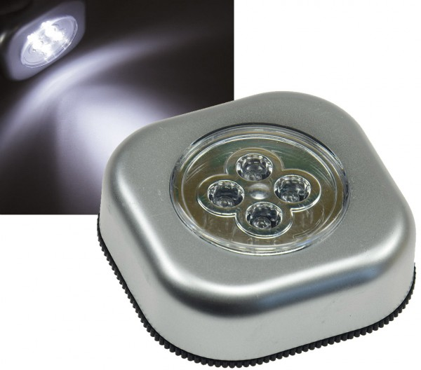 8* LED Touch Leuchte Lampe mit 4 LED s | Batterie ohne Kabel | Klebestreifen