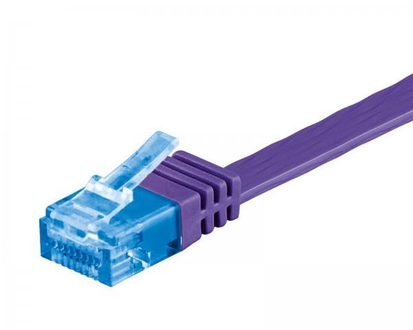 0,5m CAT 6a Patchkabel Flachkabel 500MHz U/UTP 2xRJ45 Netzwerk Kabel violett