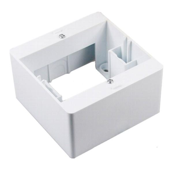 1* DELPHI Aufputz-Rahmen weiß für Steckdose Wechsel-Schalter Dimmer Taster usw.