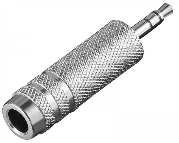 Goobay® Audio Adapter Stereo Klinke 3,5 mm Stecker auf 6,35 mm Kupplung Buchse