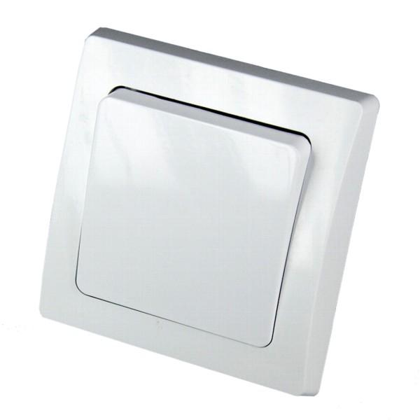 1* DELPHI Wechsel Schalter 250V~ 10A inklusive Rahmen Unterputz weiß