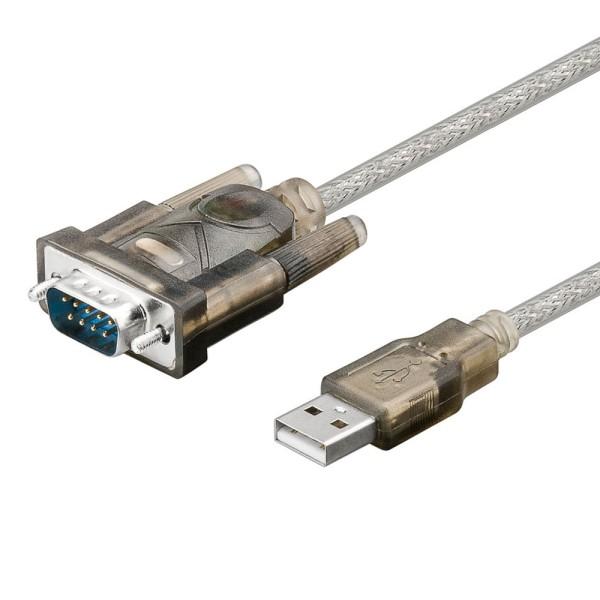 USB 2.0 Adapter - Konverter Kabel USB A St. zu Seriell COM RS232 9 Polig 1,5m
