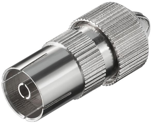 Koax Adapter Koaxial Kupplung 9,5mm Metall Antennen Buchse SAT TV Koaxial