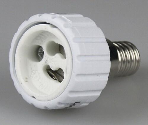 1* Lampensockel Adapter von Sockel E14 > GU10 Fassung Leuchtmittel LED kompat.