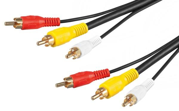 Goobay® 20m Chinch Audio und Video AV Composite Kabel 3x Cinch rot weiss gelb