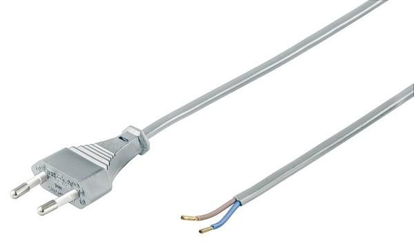 1,5m Strom Kabel Eurostecker Netzkabel grau Typ C CEE 7/16 > lose Kabelenden