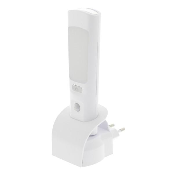 LED Taschenlampe Akku + Orientierungslicht + 220V Notfallbeleuchtung Nachtlicht