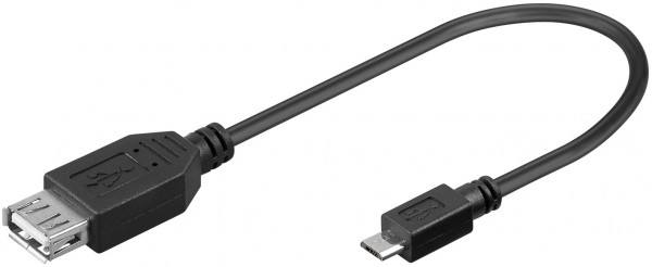 0,2m USB 2.0 Adapter Kabel USB A-Buchse Kupplung zu Micro Mikro USB B-Stecker