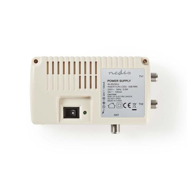 Antennen Verstärker Signal Verstärker für TV Kabel Antenne 2x F-Ausgang -5 dB