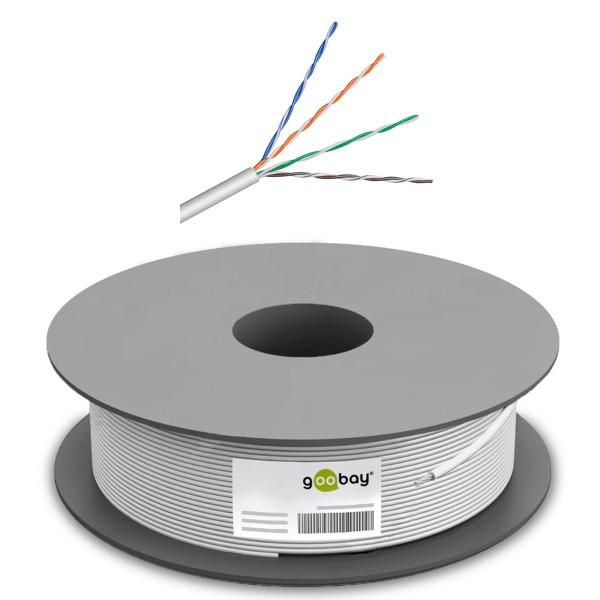 100m ---€/m CAT6 Patchkabel Netzwerkkabel Rolle Ethernet Gigabit LAN DSL Kabel