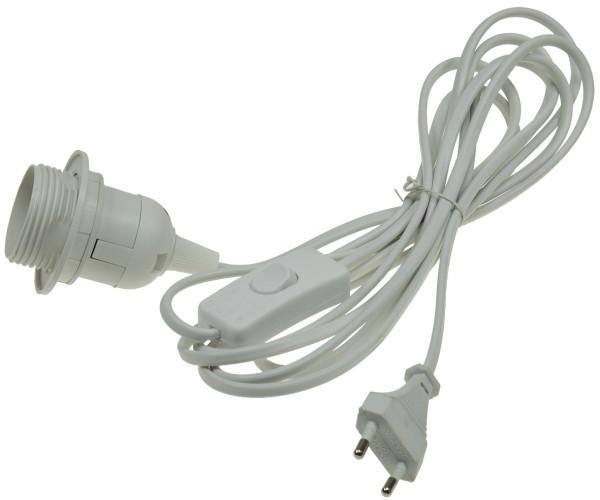 1* Netzkabel mit Schalter E27 Lampenfassung 3,5m Kabel Leuchten Fassung Stecker