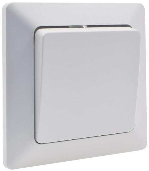 MILOS Wechsel-Schalter UP weiß matt 250V~/ 10A inkl. Rahmen Klemmanschluss