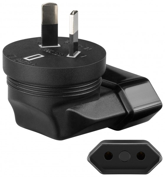 Reisestecker Adapter Euro Buchse Typ C CEE 7/16 zu Australien St. Typ I AS 3112