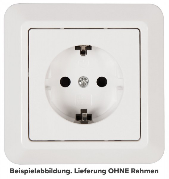 "Schutzkontakt-Steckdose McPower ""Cup"" 250V~/16A UP Kinderschutz weiß"