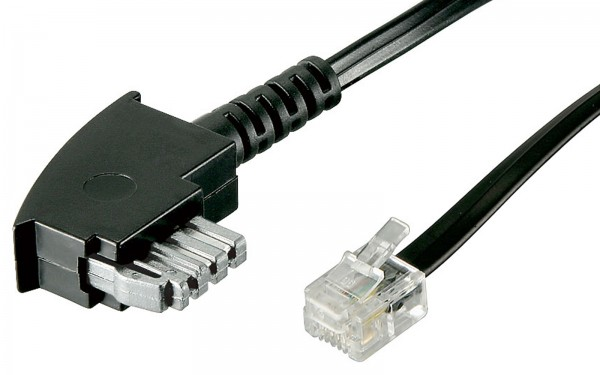 3 mTelefon Kabel TAE-N codiert für Modem Fax Modemkabel auf RJ11 + Brücke 3m