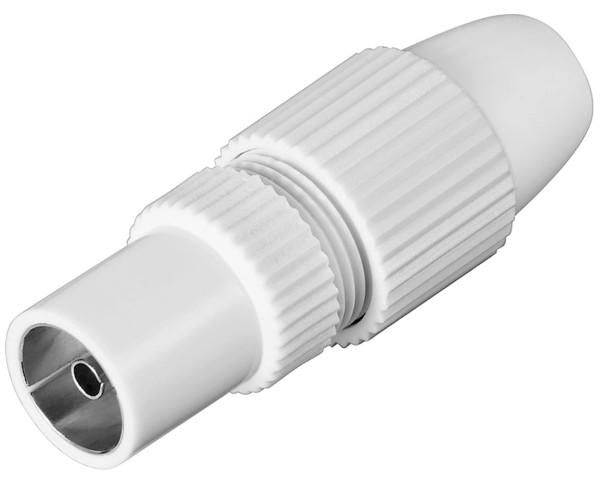 Koax Quick Adapter Koaxial Kupplung 9,5mm Antenne Buchse SAT TV Koax Kabel