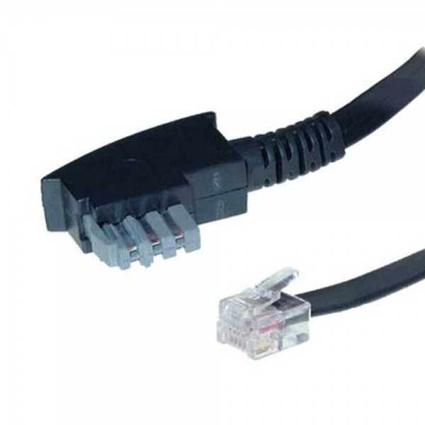 10m Telefon Anschluß Kabel TAE-N Stecker > RJ12 Western Stecker 6/6 Fax 6-adrig