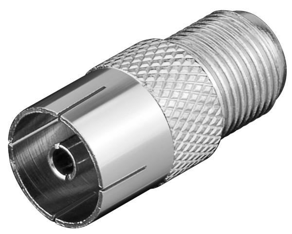 Goobay® F-Buchse zu Koaxial-Kupplung-9,5mm SAT TV Adapter Koax Antenne