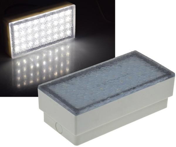 LED Pflasterstein BRIKX 20 neutralweiß 20x10x7cm 180lm IP67 230V befahrbar 4500K