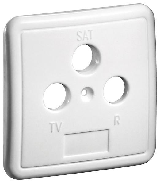3-Loch Abdeckung in weiß für Antennensteckdose TV BK Dose Antennendose weiss