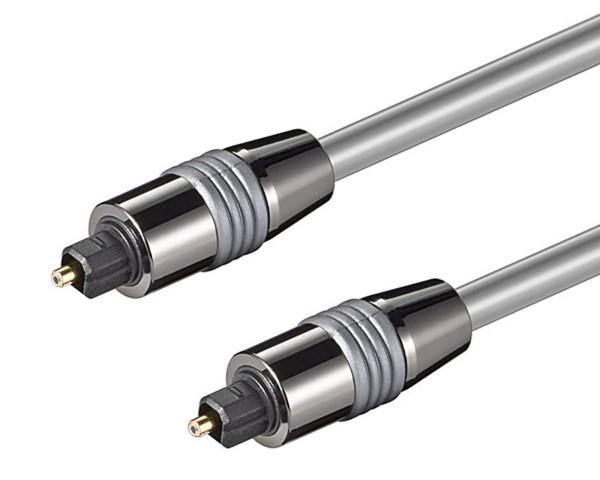 3m Goobay® Toslink Kabel optisches Digitalkabel LWL 6mm Metallstecker
