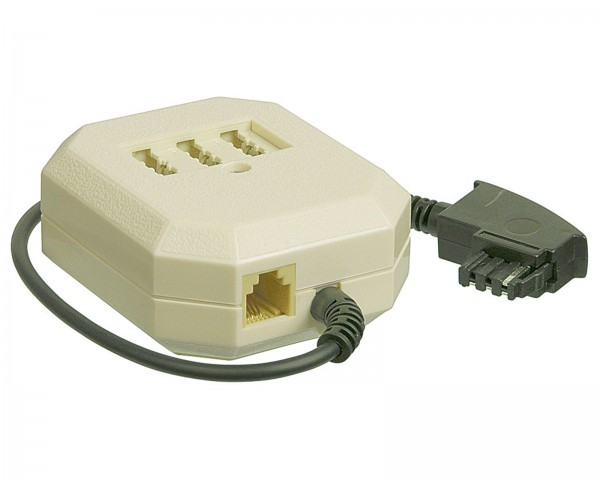 1* TAE-F NFF Telefon Verteiler Dose + RJ11 Buchse 6P4C Adapter Kabel 20cm