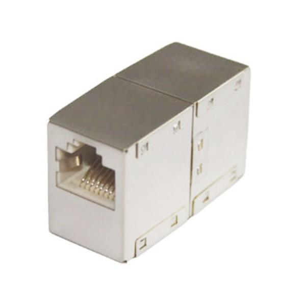 CAT.6 Patch Kupplung Verbinder CAT6 2x RJ45 Buchse geschirmtes Metallgehäuse