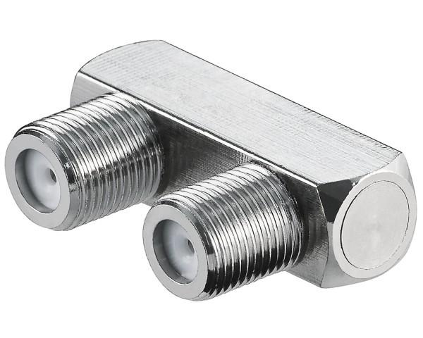 Goobay® Sat-Verbinder 2*F-Buchse Koax Adapter Koaxialkabel Kupplung Antenne