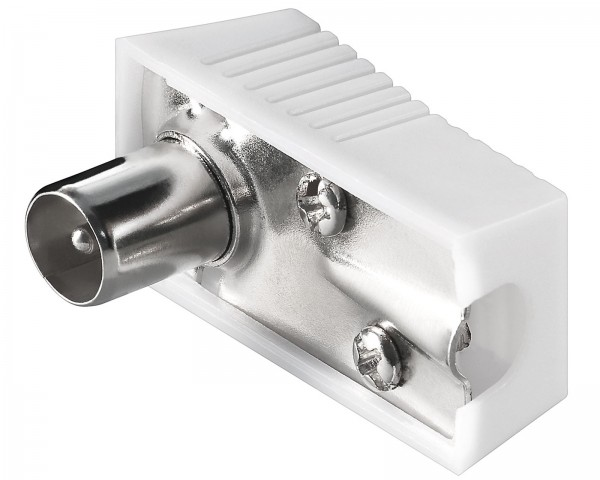 Goobay® Koax Winkel Stecker Antennenstecker 9,5mm rechteckig SAT TV Antenne