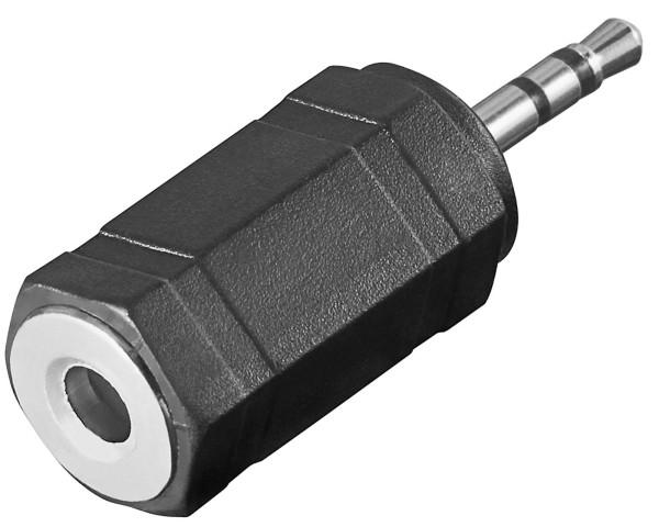 Goobay® Audio Stereo Adapter 3,5 mm Buchse Kupplung auf 2,5 mm Klinke Stecker