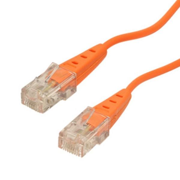 0,5m ISDN Telefon Anschluss Kabel RJ45 Stecker >RJ45 Stecker 4-adrig orange rund