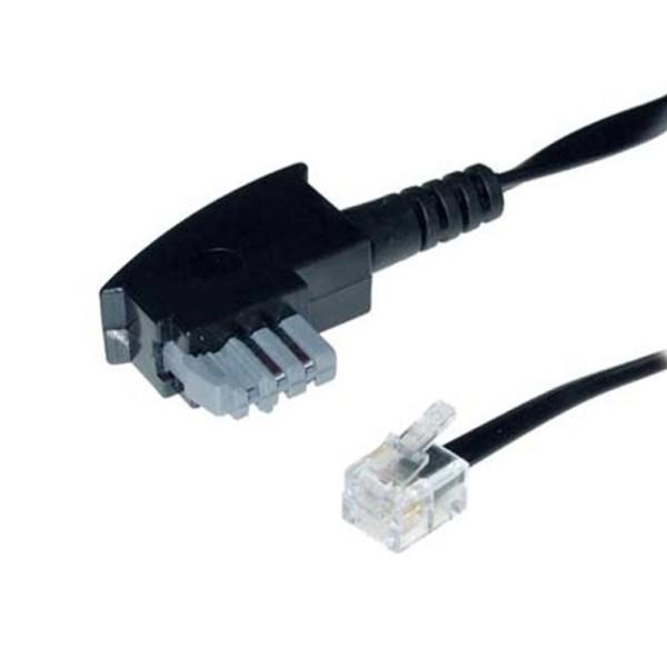 3m Telefon Kabel TAE-N > RJ11 6/4 Western geeignet für Philips Pansonic Geräte