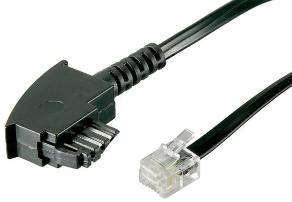 15m Telefon Kabel TAE-F Stecker (Fernsprechen) > RJ11 Telekom Siemens Belegung