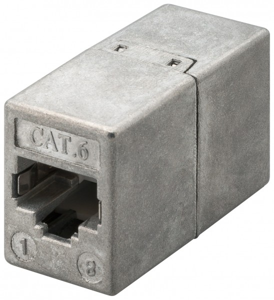 CAT6 RJ45 Vollmetall Adapter Verbinder 1:1 Kupplung für Patchkabel Netzwerkkabel