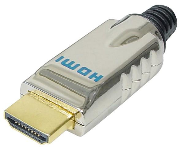 HDMI Stecker Metall vergoldete Kontakte lose zum Selbstbau für Bastler