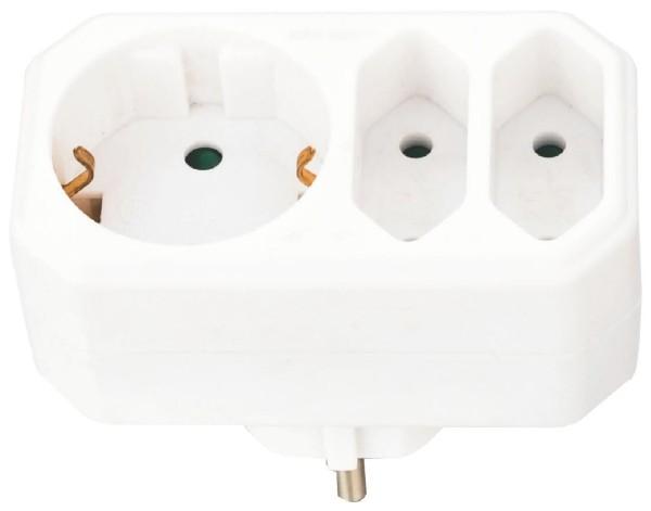 Steckdosen Adapter Mehrfachsteckdose Verteiler Multistecker 3fach Euro Stecker