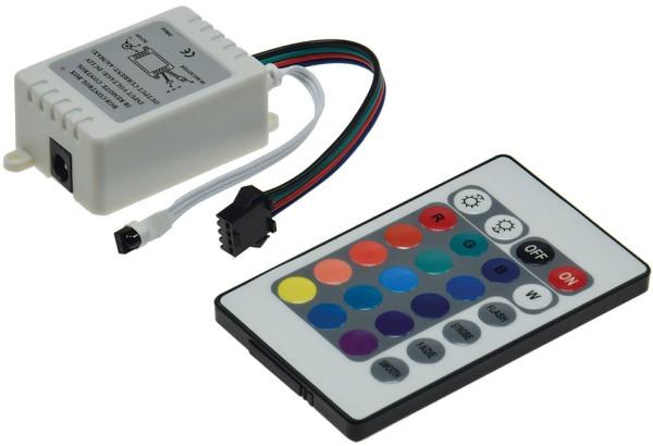 RGB-Controller incl. IR-Fernbedienung LED-Einbauleuchte Stufenlicht LED-Stripes