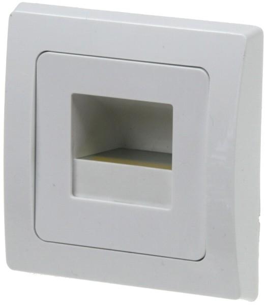 """LED-Einbauleuchte DELPHI """"COB"""" weiß 80x80mm 3000k, warmweiß 110Lumen"""