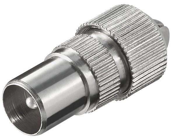 Goobay® Metall Koax Stecker Antennenstecker 9,5mm SAT TV Koaxialkabel Antenne