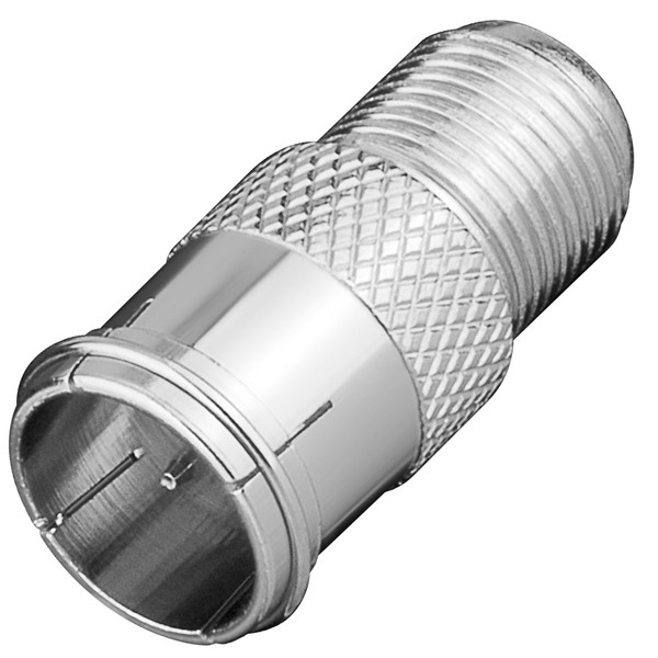 Goobay® F-Quick Stecker > F-Kupplung Buchse SAT TV Adapter Koaxialkabel Antenne