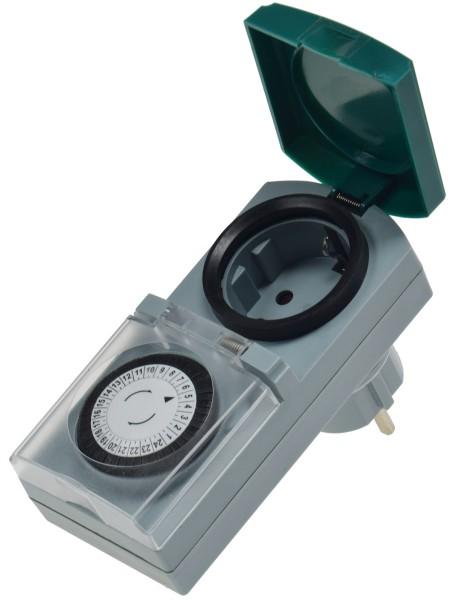 analoge Zeitschaltuhr für Außen IP44 +Innen 230V 3500W Drehschalter Kinderschutz