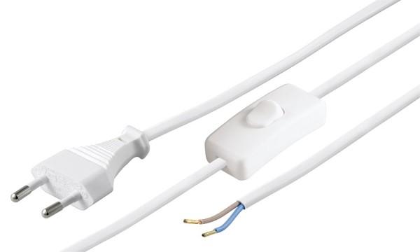 1,5m Netz Leitung mit Schalter Euro Stecker Strom Kabel Lampenkabel lose Enden