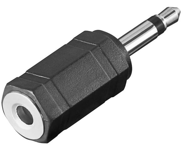 Goobay® Audio Adapter Klinke 3,5 mm Mono Stecker auf 3,5 mm Stereo Kupplung