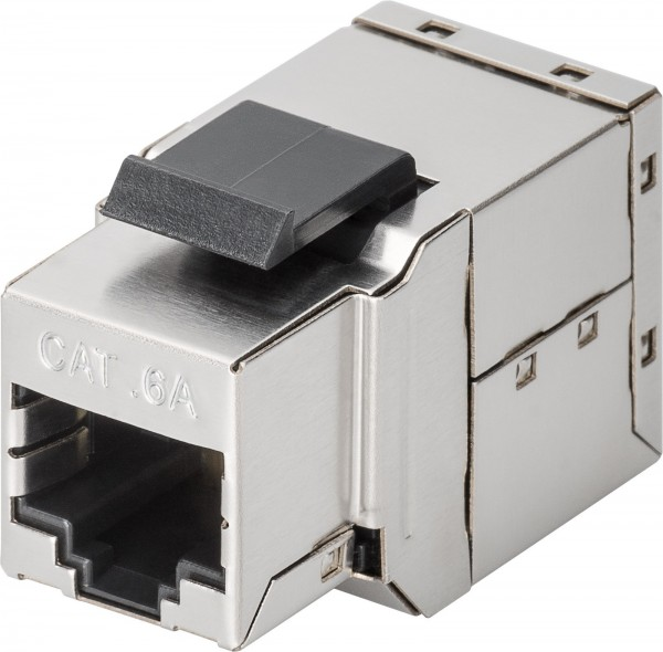 CAT6a KeyStone LAN Verbinder 2*Buchse CAT 6a Modularkupplung Panelmontage Metall
