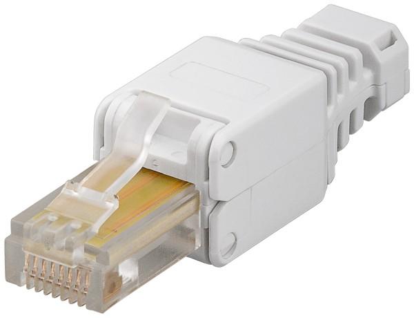 CAT5e Tool-less RJ45 Stecker + Knickschutz 250 Mhz AWG24 AWG26 max. 5mm LAN DSL