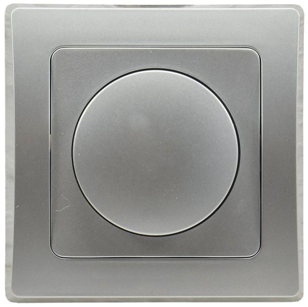 Led Dimmer DELPHI speziell für LED Lampen 3-60W inklusive Rahmen 250V~ UP silber