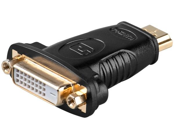 Goobay® Adapter DVI-D Buchse (24+1) auf HDMI Stecker ( 19 pin ) PC TFT Monitor