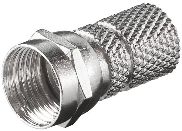 25 Stück Premium F Stecker F-Stecker 0 Ringe 7,3mm